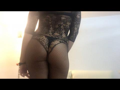 Valentine Vidal sexy erotic transgender in stockings catsuit pantyhouse