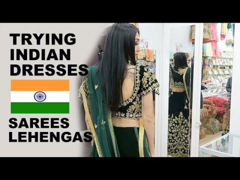 Trying On Indian SAREES/LEHENGAS!
