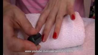 How To Paint Your Nails Red!!