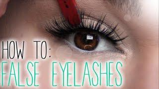 HOW TO: False Eyelashes (Application + Cleaning)