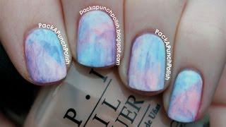 Watercolor Nail Art Tutorial Using Acrylic Paint