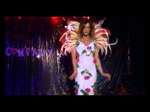 Valentine Vidal performing 'Fare l'amore' - Mietta Drag queen show