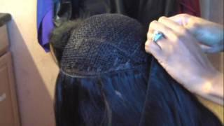 How To Install Virgin Indian Remy Hair Extensions On A Hand Tied Weft