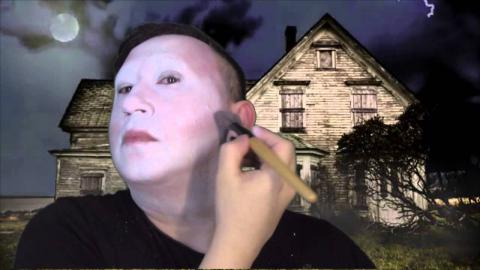 Halloween ghost makeup tutorial by Candy Vanity Heals