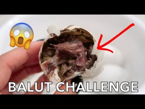 Eating BALUT duck fetus for the first time!