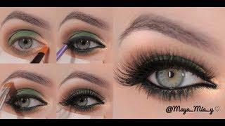 Green&Gold Smokey Eye Makeup Tutorial