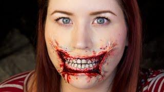3D Stretched Lips / Halloween Makeup Tutorial