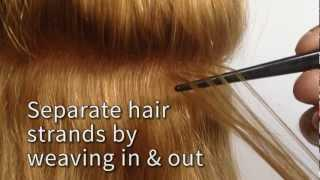 How To Apply Tape Hair Extensions Tutorial Locks&Bonds And Re-Use Seamless Remy