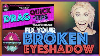 BROKEN EYE SHADOW! DON'T STRESS! - Drag Queen Makeup Tips
