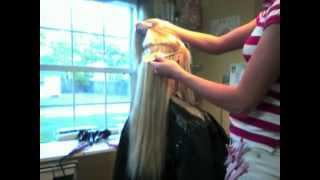 ~How To Apply Fusion Hair Extensions!~by Brittany Greek Jacksonville Beach, FL