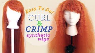 Drag Queen Wig Styling Tip: How To Curl Or Crimp Your Synthetic Wig