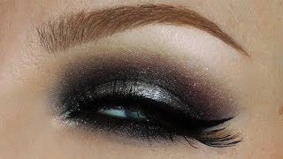 Christmas New Years Makeup Tutorial Metallic Grey Silver Smokey Eye Make-up Look