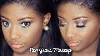 NYE Makeup Tutorial | Bronzy With A Pop Of Colored Glitter! (2013)