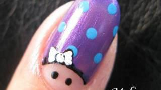 Nails Art Tutorial - Finger Army Shaytards Family Portrait Character Cartoon Design For Short Nails
