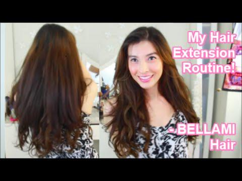 My Hair Extension Routine - BELLAMI Hair