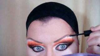 Drag Queen Makeup Tutorial - Orange E Black