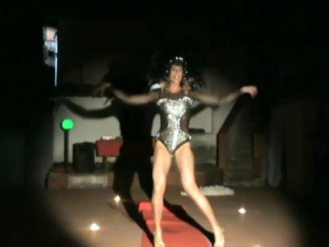 Valentine Vidal performing  'Diamonds' - Rihanna Drag queen show