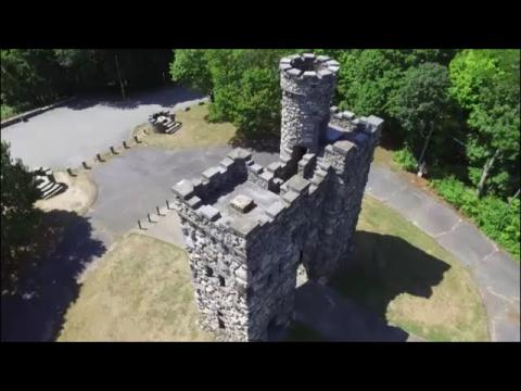 The Bancroft Tower, Worcester MA - Drone View by Tinkerbell