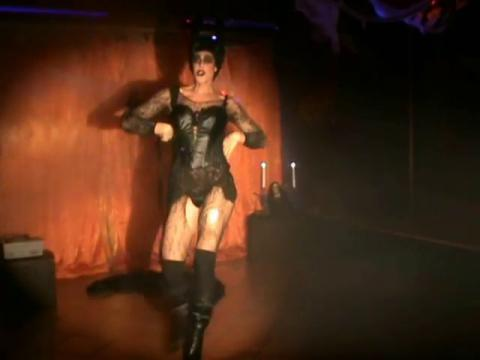 Valentine performing Word Up- Mel B Maleficent Drag queen show