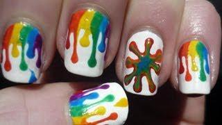 Dripping Paint Nail Art Tutorial