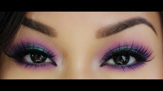 Purple + Pink + Teal Eyes - Makeup Tutorial