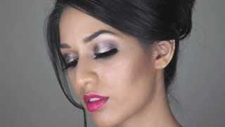 Easy Makeup For Brown Indian Skin | Metallic Silver Eye Makeup | Eid/Diwali Makeup Tutorial 2013