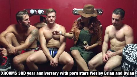 A sit down with porn stars Wesley Woods Brian Bonds and Dylan Knight