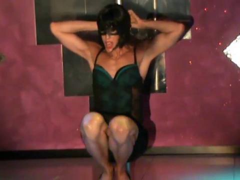 Valentine Vidal performing- Erotica- Madonna sexy drag queen show