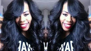 •Hair Tutorial• Old School Quick Weave With DS Hair Extensions