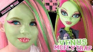 Venus McFlytrap Monster High Doll Costume Makeup Tutorial For Cosplay Or Halloween
