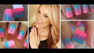 How To♥ ONE Step Ombre Nails!!!