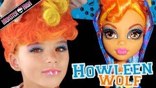 Howleen Wolf Monster High Doll Costume Makeup Tutorial For Cosplay Or Halloween
